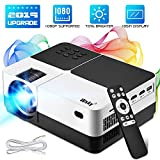 Wsky Portable Home Theater Projector - Best 84-LED Outdoor Movie Projector - Support 1080P - Compatible with Fire TV Stick, PS4, HDMI, VGA, AV and USB