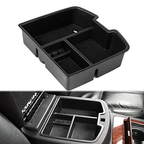 EDBETOS 07-14 Full Size GM Trucks Center Front Floor Console Organizer for Chevrolet Avalanche Chevy Tahoe Silverado Suburban 1500 2500 GMC Sierra Pickup Truck Yukon & XL/Denali ()