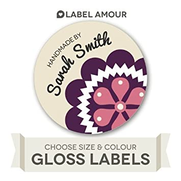 40 personalised handmade by business labels stickers
