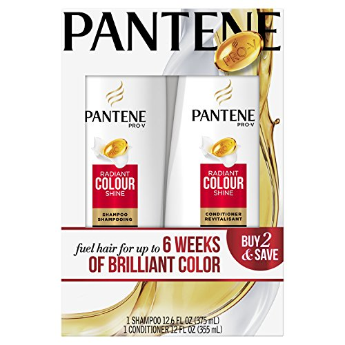 Pantene Pro-V Radiant Color Shine Shampoo and Conditioner Dual Pack, 24.6 fl oz