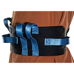 Physical Therapy Transfer & Walking Gait Belt with 7 Hand Grips & Easy Release Plastic Buckle. Two Year Warranty - (PLASTIC Buckle) .Also Available in Metal Buckle.