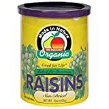 Made In Nature Thompson Raisin, Can, Organic, 15-Ounce (Pack of 3)