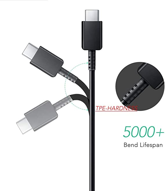 Fast Charging USB for Samsung Galaxy S8//S9//S10//S10E//S20//A10//A20//A51//Note//S10 Plus S10+//S20 Ultra//LG v50//v40//v35//g7//g8 Google Pixel,Huawei P30//P20 USB to Type C Cable 4FT.U71 Data Cable