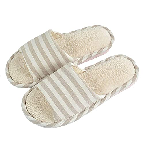 f5424c35791d8 Amazon.com | Chinashow House Slippers - Women's and Men's Cotton ...