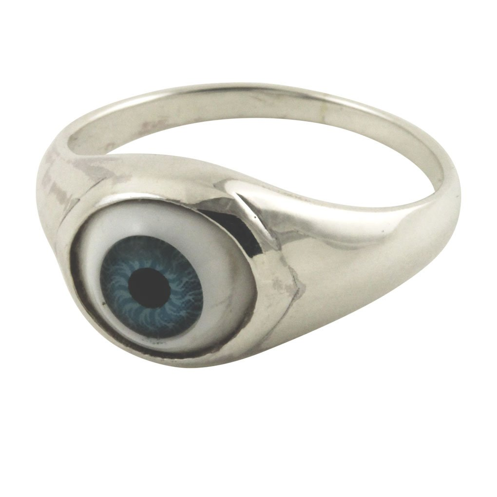 apop nyc I C U Sterling Silver Blue Evil Eye Ring (6) [Jewelry]