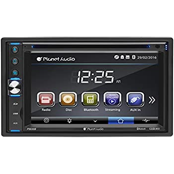 Planet Audio Pb Double Din Touchscreen Bluetooth Dvd Cd Mp Usb Sd Am Fm Car Stereo   Inch Digital Lcd Monitor Wireless Remote