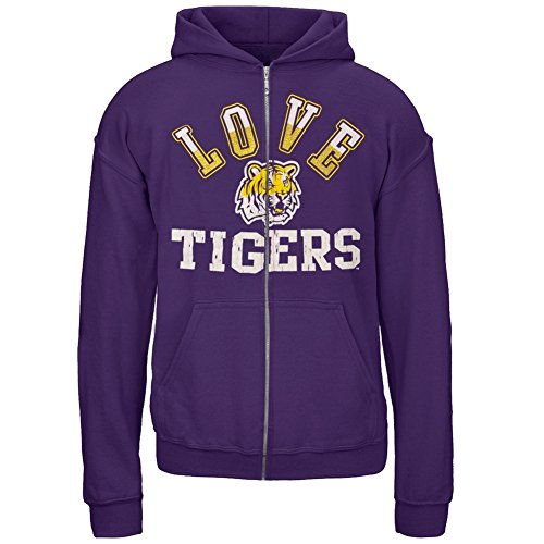 (LSU Tigers - Glitter Love Girls Juvy Zip Hoodie Purple J7)