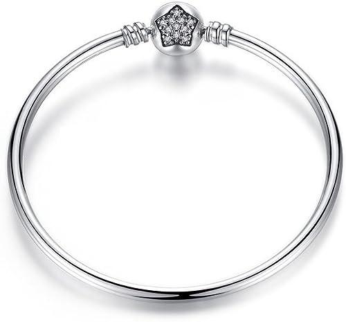 Missy Jewels Pulsera de Plata Mujer, Brazalete para Charms Tipo Pandora 100% Plata de Ley, Fabricada en España, Cierre con Circonitas Pulsera rígida Longitud (21): Missy Jewels: Amazon.es: Joyería