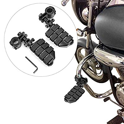 Motorcycle Foot Pegs Foot Rest Highway Footpegs For Road King Street Glide Honda Kawasaki Suzuki Yamaha 25mm 32mm 34mm (Black): Automotive