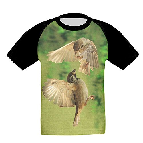 Bird Lovers Baby's Girls 3D Printed Short Sleeve Funny Crew Neck T Shirts 5-6 (The Wonder Years Bird Costume)