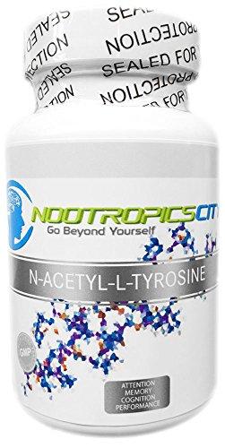 N-acétyl-l-tyrosine Nalt | Précurseur de la dopamine | 90 capsules | 700 Mg