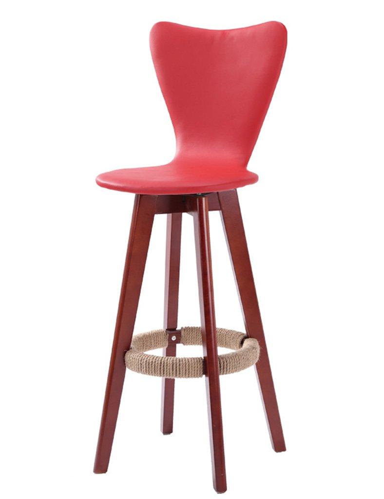 TH モダンファッションフロントデスクスツールレトロスツールカフェハイスツールフォアグランドバックチェア (色 : Red, サイズ さいず : Pack of 1-Sitting height 71CM) B07F5TNKPZ Pack of 1-Sitting height 71CM|Red Red Pack of 1-Sitting height 71CM