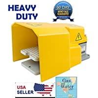 Heavy Duty Foot Switch Pedal with Guard 15A SPDT Electric Momentary Nonslip G&W by Gas and Water