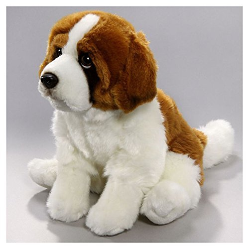 Carl Dick St. Bernard Dog Sitting 12 inches, 30cm, Plush Toy, Soft Toy, Stuffed Animal 2607001 by Carl Dick