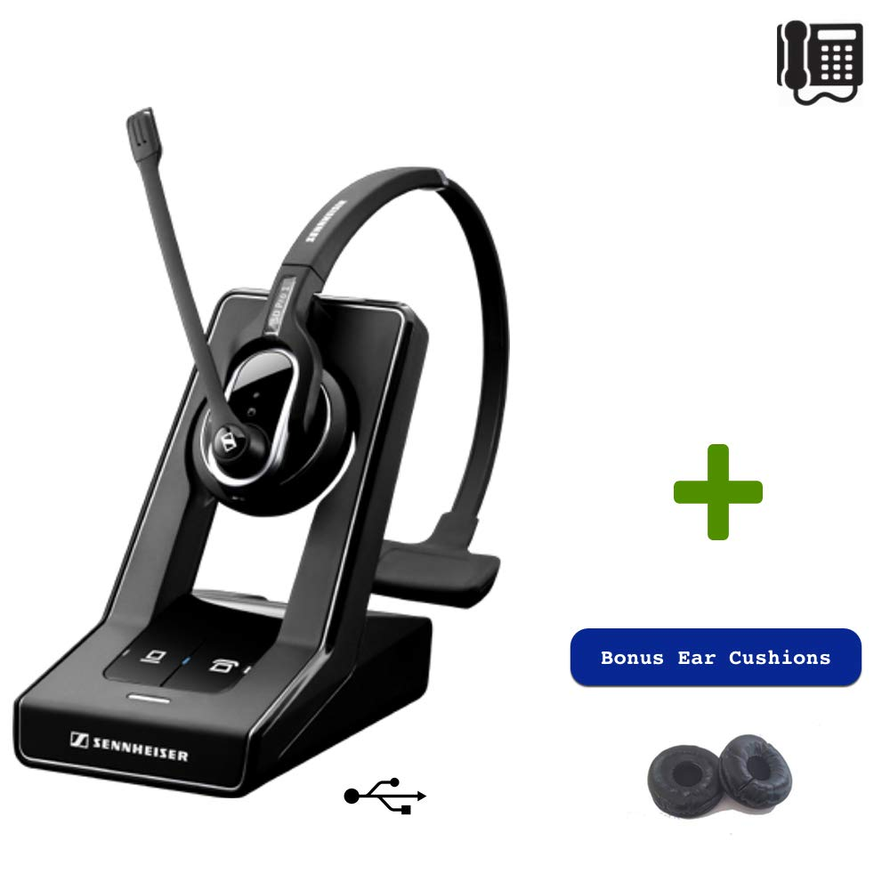 Sennheiser SD PRO1 ML- Deskphone and PC - Microsoft Skype/Lync Certified Cordless Headset | Compatible with Business Deskphones and PC by Global Teck Worldwide