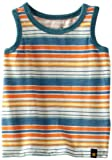 Lucky Brand Baby-boys Infant Striped Tank Top, Aspen Gold, 12 Months image