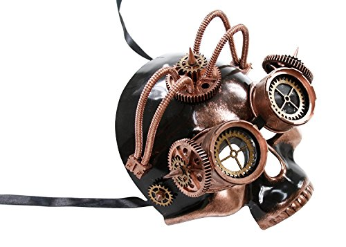 KAYSO INC The Astronomer II Steampunk Full Face Venetian Masquerade Mask (Vintage Bronze) by KAYSO