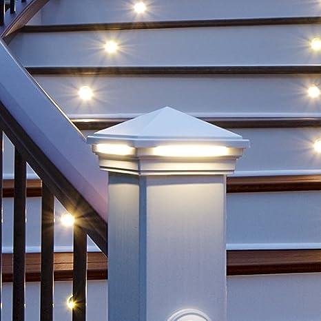 Amazon.com: Luz LED de tapa para poste, estilo cuadrado ...