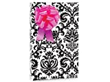 Black and White PAISLEY FLOURISH Gift Wrapping Paper – 16 Foot Roll, Health Care Stuffs