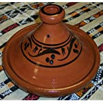 Moroccan Handmade Lead Free Safe Cooking Tagine Non Glazed Medium 10 inches Across Traditional 3 Non glazed cooking tagine Medium 10 inches in Diameter Ideal for cooking on top of any kind of stove and inside the oven Traps condensation to keep food moist and infused easy to clean