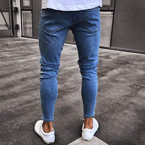 Pantaloni lannister Lavati Mendicanti Jeans Ragazzo Uomo Blau Distrutti Estivi Qk Collage Casual Da Stampa Zxq7wff6