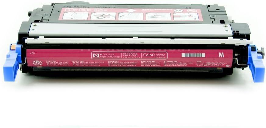 Hp Color Laserjet 4700 Dtn Q5953a Original Toner Von Hp Rot Magenta Ca 10 000 Seiten Bürobedarf Schreibwaren