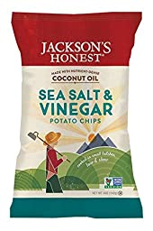 Jackson\'s Honest Salt and Vinegar Potato Chips Made With Coconut Oil, 5 Ounce