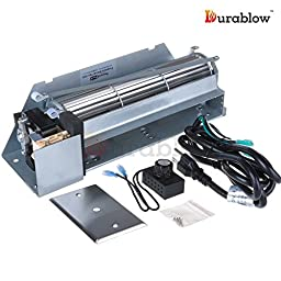 Durablow MFB002-B FBK-200 Replacement Fireplace Blower Fan Kit for Lennox, Superior, Rotom