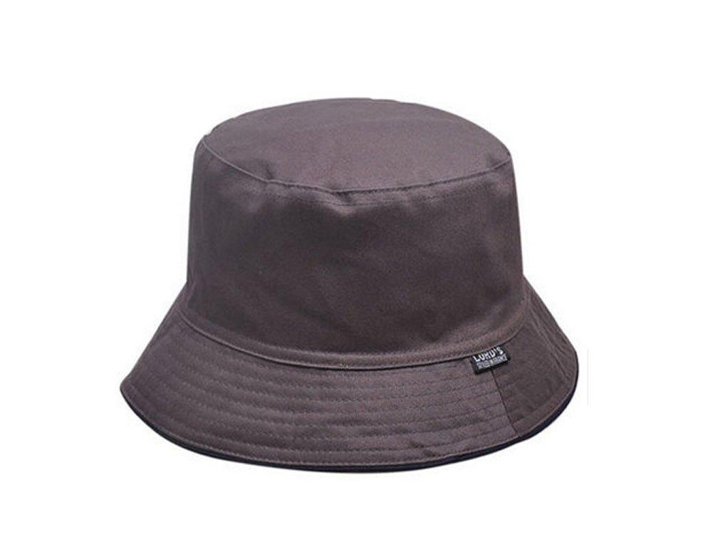 ソリッド、折りたたみ式釣り帽子バケットハットmen-darkグレー   B014ZYGAZA