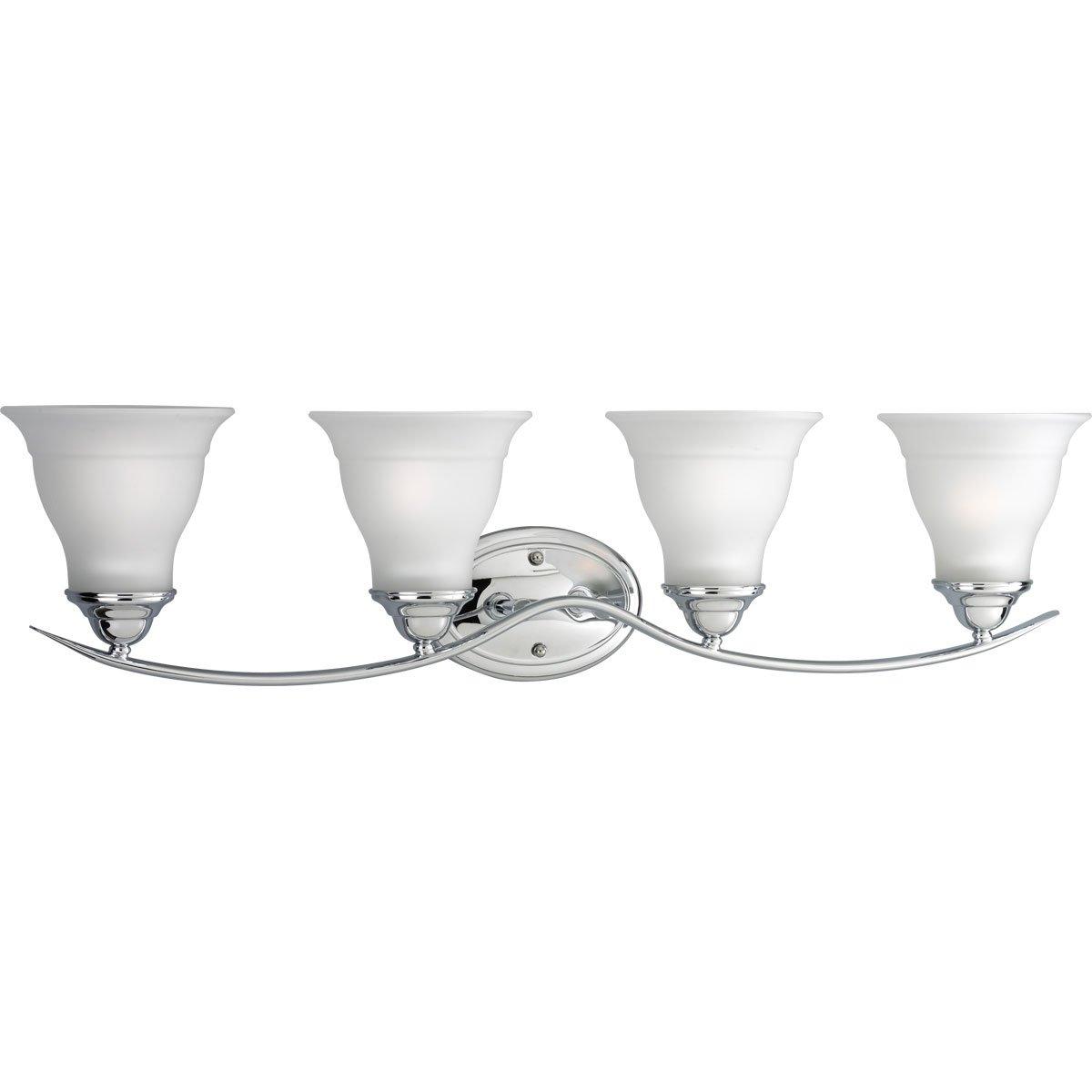 progress lighting p319309 4light bath bracket brushed nickel vanity lighting fixtures amazoncom