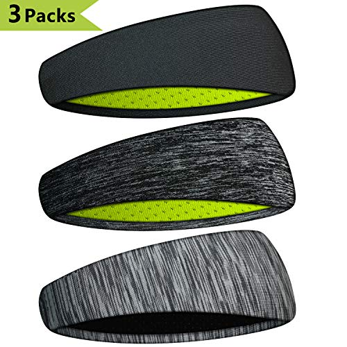 Extrafit Headbands for Men & Women - Mens Headband Guys Sweatband & Sports Headband for Running, Fitness, Yoga, Workout, Gym - Performance Stretch & Moisture Wicking