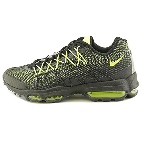 discount cost Nike Mens Air Max 95 Ultra Jacquard Running Shoes Black/Volt-drk Grey-mtllc Slvr sale hot sale discount 2015 cheap 2015 buy cheap recommend rdcK4