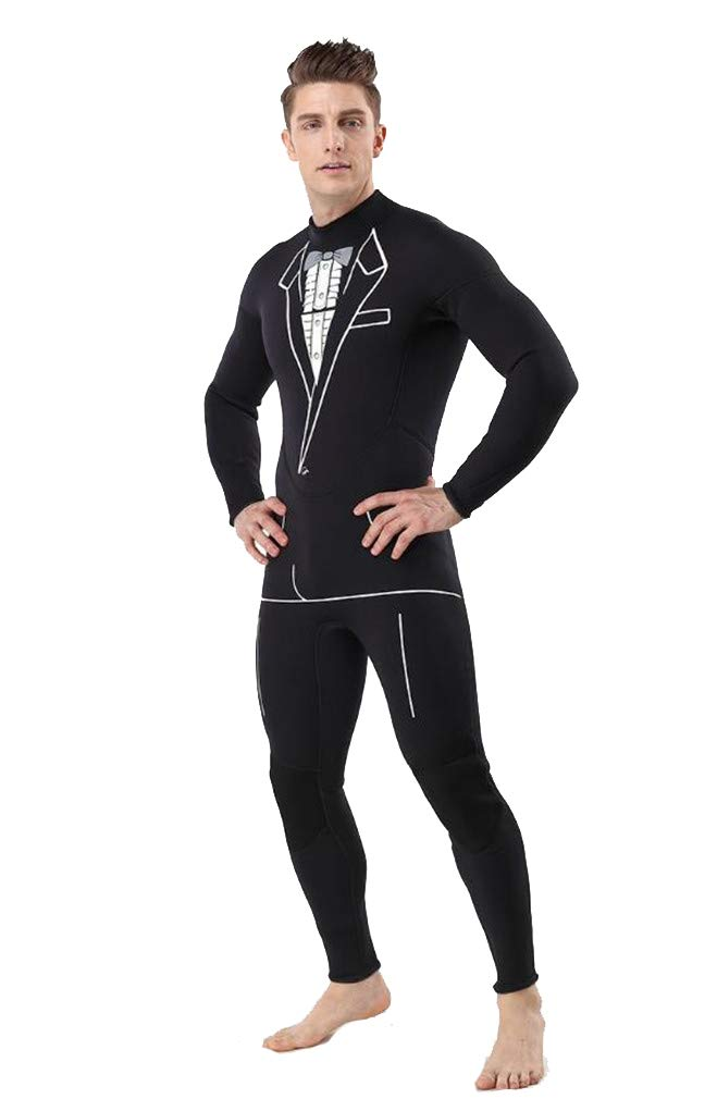 3ミリメートルメンズウェットスーツ全身水着ネオプレン80%ダイビング素材+ 20%ナイロン水泳/ワタリ XX-Large  B07PKBBC5Q