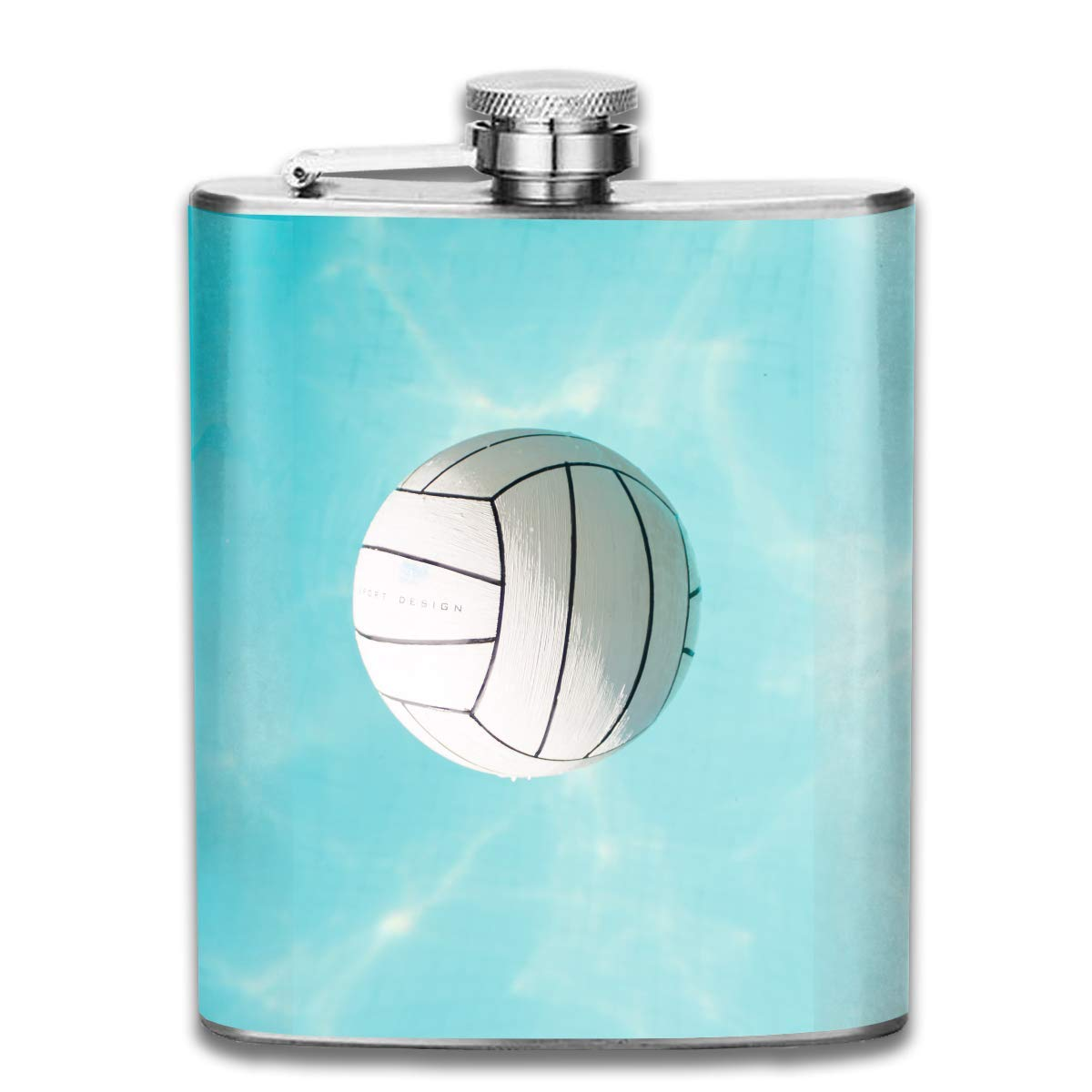 Water Polo Volleyball Hip Flask para licor de botella de acero ...