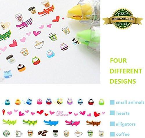 EFF-cientt 4pcs Korea Cute Novelty Sticker Machines /& Stickers,Decoration Tape