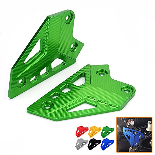 Heinmo New Motorcycle CNC Aluminum Accessories Foot Peg Heel Plates Guard Protector For Kawasaki Z900 2017 Foot Peg Heel Protection Z900 Footrest Rear set Foot Peg (blue)
