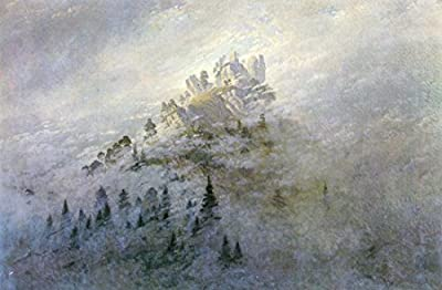 Morning fog in mountains by Caspar David Friedrich. 100% Hand Painted. Oil On Canvas. Reproduction. (Unframed and Unstretched).