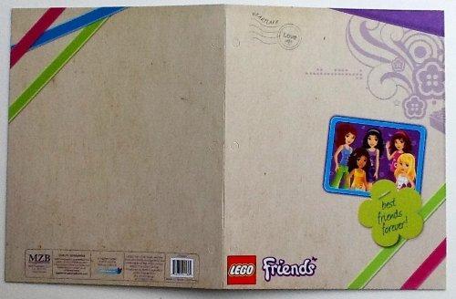 Lego Friends 2 Pocket Designed, Name Brand School Folder (Blue Frame - Best Friends Forever) (Best Friends Forever Quiz)