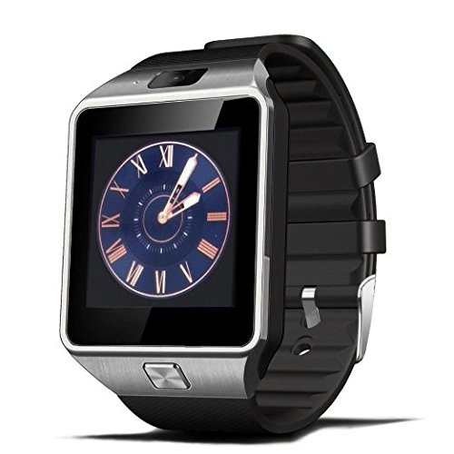 Wireless Bluetooth V4.1 Smart Watch Fitness Wrist Watch LCD Bracelet w/ Camera, Pedometer for iOS & Android Smartphones (Black)