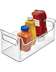 """iDesign Fridge Plastic Storage Organizer Bin with Handles, Clear Container for Food, Drinks, Produce, Pantry Organization, BPA-Free, 5.5"""" x 11.25"""" x 5"""", Clear"""