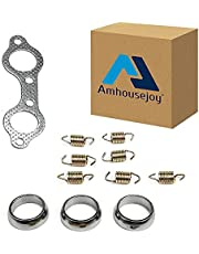 Exhaust Pipe Donut Gasket Fit for Polaris Ranger XP 800 4x4 EFI 2010-2012 Replace 5243518 7041789 7041804 5250091 7041687