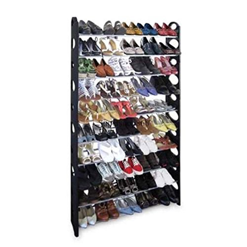 50 pair shoe rack,10 Tiers tall closet shoe shelves stackable shoe rack Round Shaped Organizer Cabinet - Tall Shoe Racks