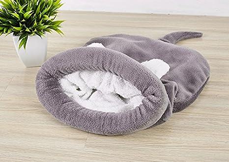 XIERU Cama Perro pequeño, Gato Cueva para Suave y cálida Manta de la Cama del Gato Lavable-Gris-m: Amazon.es: Productos para mascotas