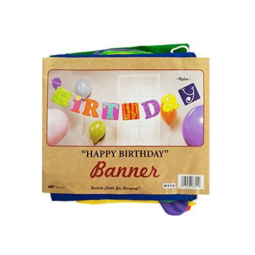Kole Imports KB799 Fabric Happy Birthday Banner