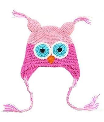 Samgu Tricot Crochet Bébé Enfant Enfants Eagle Hibou Chapeau Beanie  Nouveau-né Photo Prop Multicolore 2ebc4a3672d