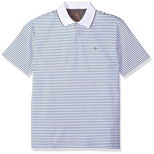 Dockers Men's Short Sleeve Performance Polo, Paper White, Large