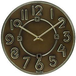 Bulova Exhibition Typeface Clock, Antique Bronze Metallic