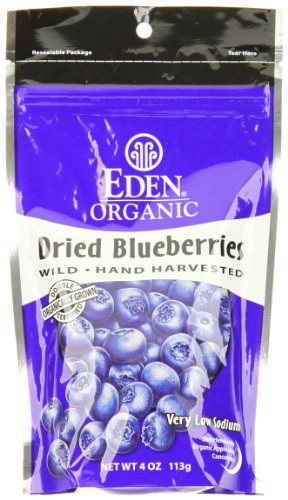 Eden Organic Dried Wild Blueberries, 4-Ounce Pouches (Pack of 3)