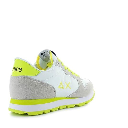SUN68 Herren Schuhe Sneaker Running Bicolor Nylon Weiß/Gelb Frühling-Sommer  2018: Amazon.de: Schuhe & Handtaschen