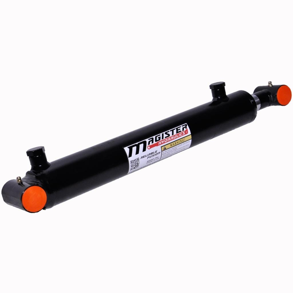 Double Acting Welded Hydraulic Cylinder 1.5'' Bore 14'' Stroke Cross Tube End